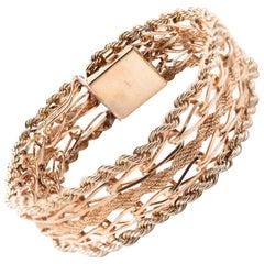 14 Karat Yellow Gold Woven Rope Bracelet
