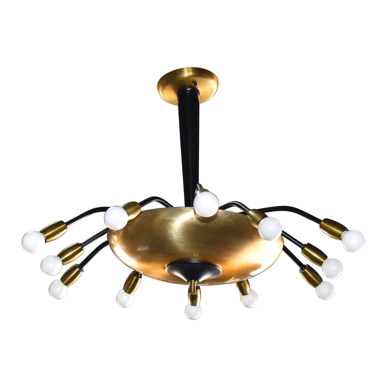 14 Lights Brass Sputnik Light Fixture