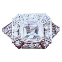 1.40 Carat Art Deco Diamond and Platinum Ring
