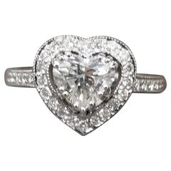 1.40 Carat Heart Shape Diamond in Halo