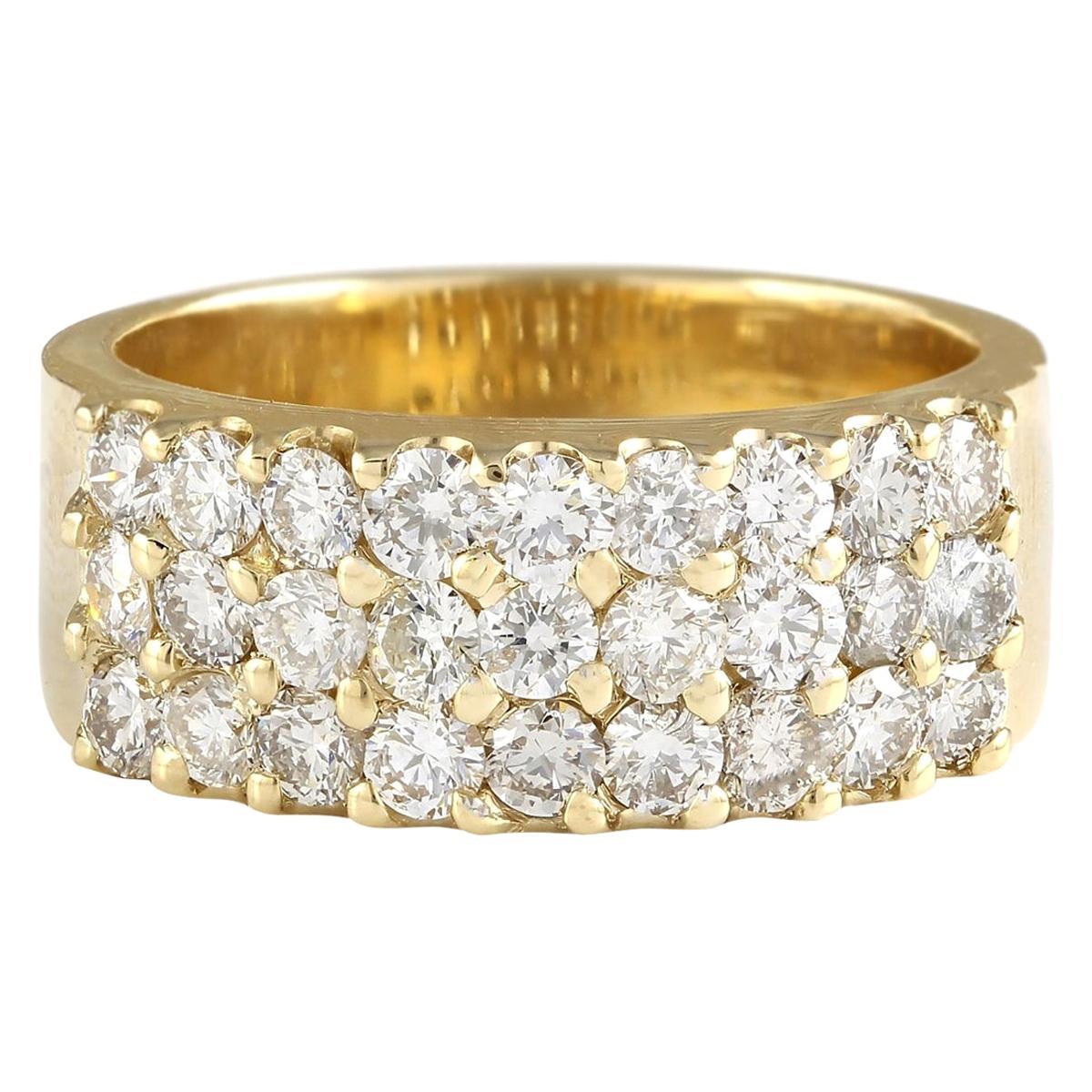 1.40 Carat Natural Diamond 18 Karat Yellow Gold Ring