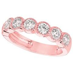1.40 Carat Natural Diamond Ring G SI 14 Karat Rose Gold