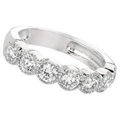 1.40 Carat Natural Diamond Ring G SI 14 Karat White Gold