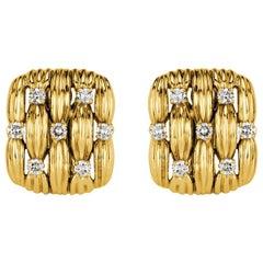 1.40 Carat Round Brilliant Cut Diamond Tiffany & Co. Estate Clip-On Earrings