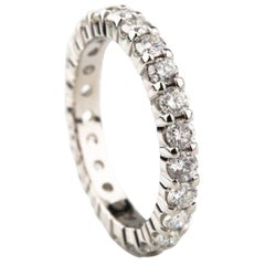 1.40 Carat Round Diamonds Platinum Eternity Band