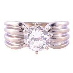 1.40 Carat VVS2 Diamond Solitaire Engagement Ring