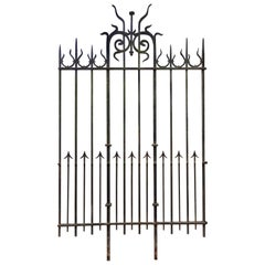 140 meters of Antique Wrought Iron Fencing