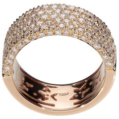 1.40 White GVS Diamonds 18 Karat Pink Gold Fashion Band Ring