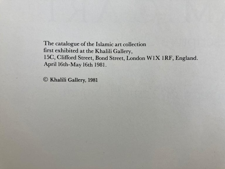 1400 Years of Islamic Art a Descriptive Catalogue Hardcover Book For Sale 1