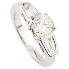 1.41 Carat Light Fancy Yellow Diamond 14 Karat White Gold Engagement Ring