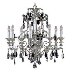 1412 8-Lights Black Crystal Chandelier