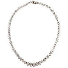 14.14 Carat Diamond Necklace in 18 Karat White Gold