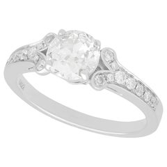 1.42 Carat Diamond and White Gold Solitaire Ring