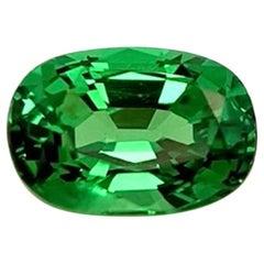 1.42 Carat Tsavorite Garnet Oval, Loose 3-Stone Ring or Pendant Unset Gemstone
