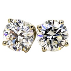 1.42 Carats Total Diamond Stud Earrings