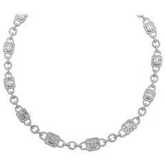 14.20 Carat Diamond Cluster Necklace