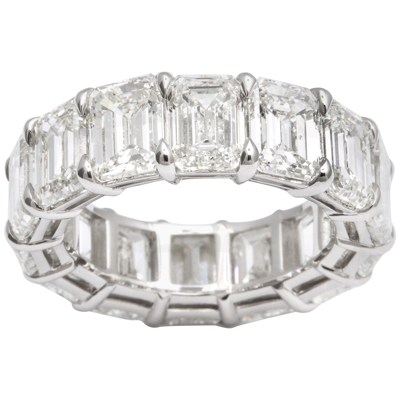 14.20 Carat Emerald Cut Diamond Eternity Band