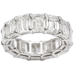 14.20 Carat Emerald Cut Diamond Eternity Band