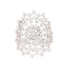 1.43 Carat Diamond 18 Karat White Gold Cocktail Ring