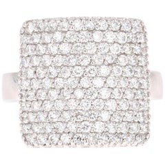 1.43 Carat Diamond Cocktail Ring 14 Karat White Gold