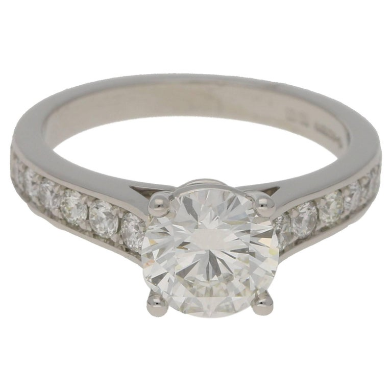 5d7deda05 1.43 Carat Diamond Single Stone Engagement Ring For Sale at 1stdibs