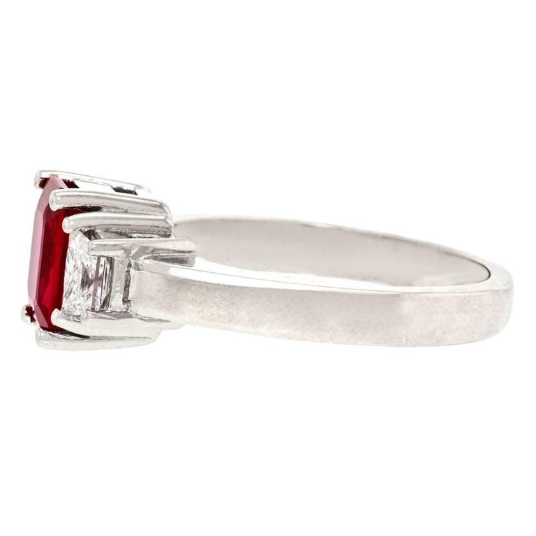 1.43 Carat Ruby and Diamond Set Gold Ring For Sale 4