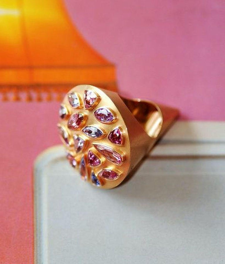 Artist 14.32 Carat Spinels Red Gold