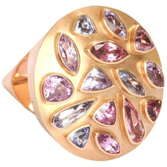 "14.32 Carat Spinels Red Gold ""Cone"" Ring by Georg Spreng"