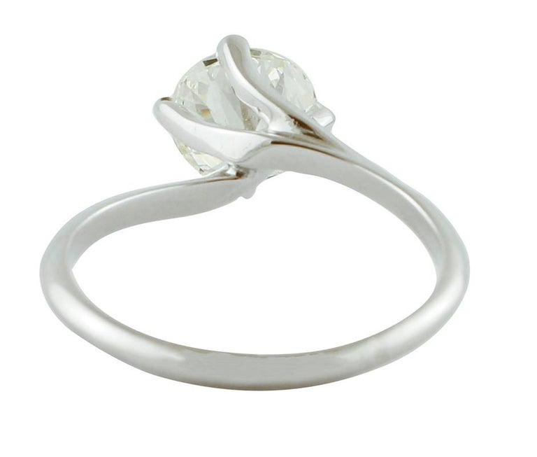 1.43 Carat Diamond, 18 Karat White Gold, Solitaire Ring In Good Condition For Sale In Marcianise, Caserta