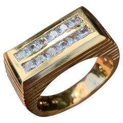 1.44 Carat TW Men's Diamond Ring / Wedding Ring / Band, 14 Karat Princess Cuts