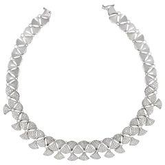 14.40 Carat Diamond 18 Karat White Gold Necklace