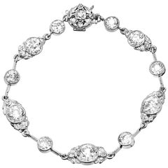 14.40 Carat Diamond Victorian Platinum Bracelet