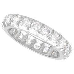 Vintage 1.45 Carat Diamond and White Gold Full Eternity Ring Circa 1940