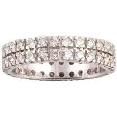 1.45 Carat Double Row Diamond Eternity Band