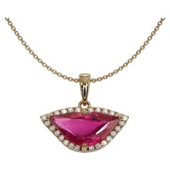 1.45 Carat Ruby Diamond Necklace 'Sri Lanka'
