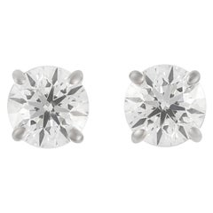 1.46 Carat Diamond Stud Earrings White Gold