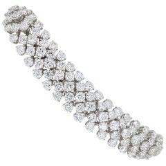14.61 Carat Diamond Bracelet Made in 18 Karat White Gold