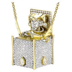 14.67 Carat 18 Karat Bicoloured Gold Diamond Fancy Necklace