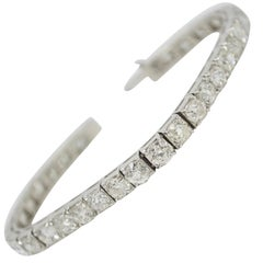 14.67 Carat Antique Old Mine Brilliant Diamond Bracelet