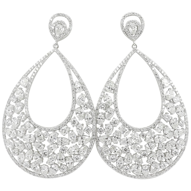 3 11 carat diamond earrings 18 carat white gold drop earrings dangle Diamond Tragus Piercing 3 11 carat diamond earrings 18 carat white gold drop earrings dangle earrings for sale at 1stdibs