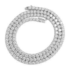 14.6ct VVS Diamond Tennis Necklace