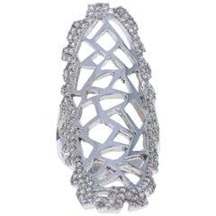 1.47 Carat Diamond 14 Karat White Gold Cocktail Ring