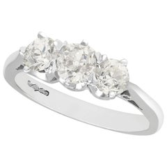1.47 Carat Diamond Platinum Three-Stone Engagement Ring