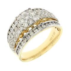 1.47 Carat Natural Diamonds G Si1 in 14 Karat Yellow Gold Engagement Ring