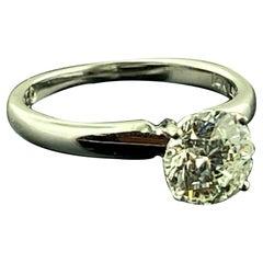 1.47 Carat Round Brilliant Cut Diamond Solitaire Ring