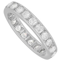 1.48 Carat Diamond and White Gold Full Eternity Ring Vintage, French, circa 1940