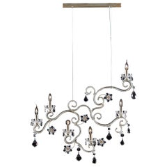 1480 6-Lights Metal Suspension Lamp