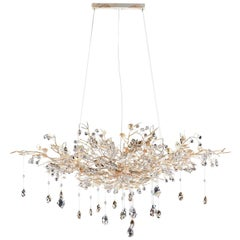1482 8 Lights White Suspension Lamp