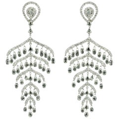 14.84 Carat Nature Inspired Diamond Leaf Earrings