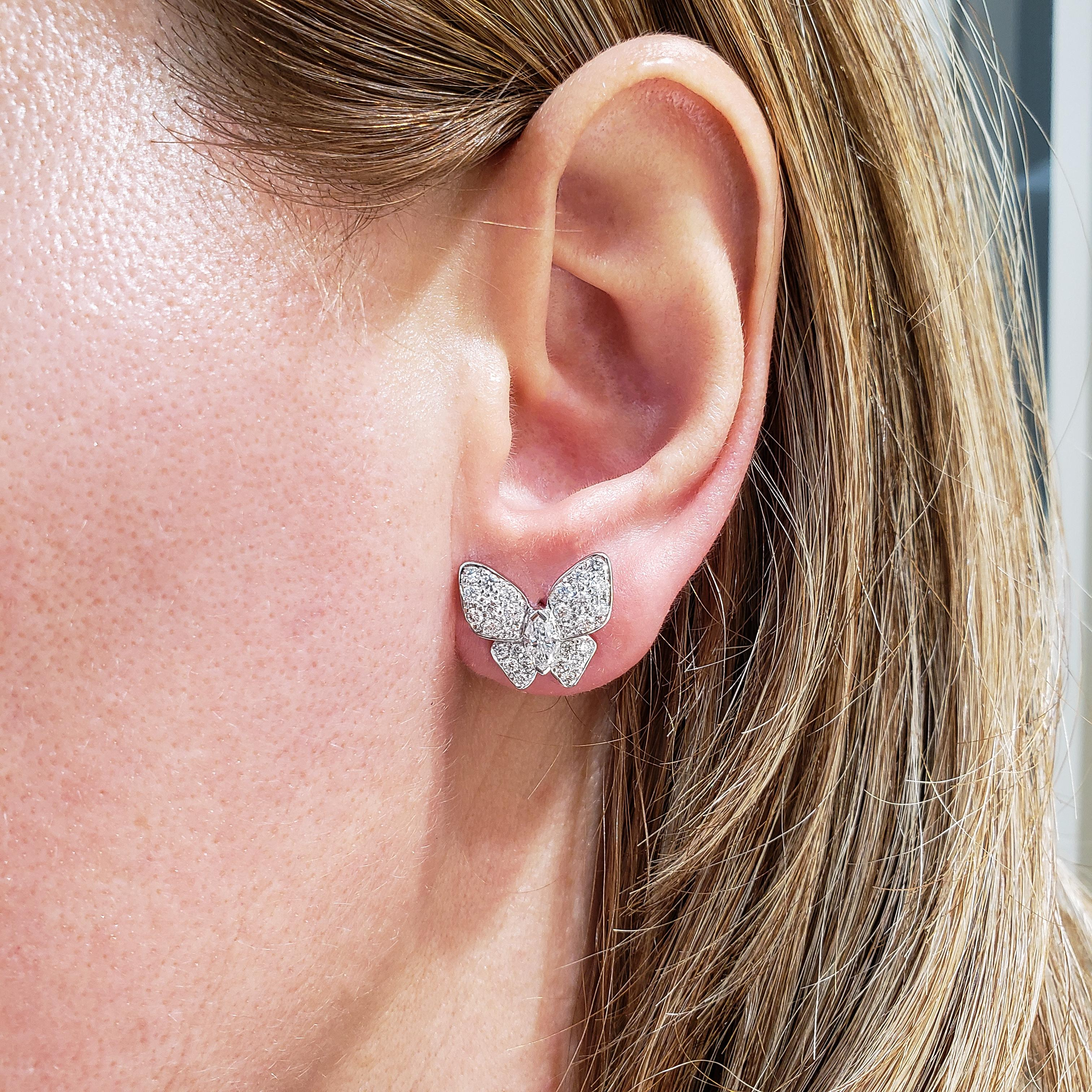 1.49 Carat Diamond Stud Earrings The